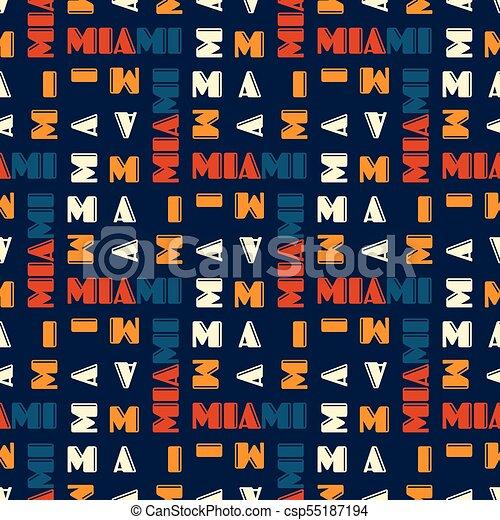 Miami pattern seamless design - csp55187194