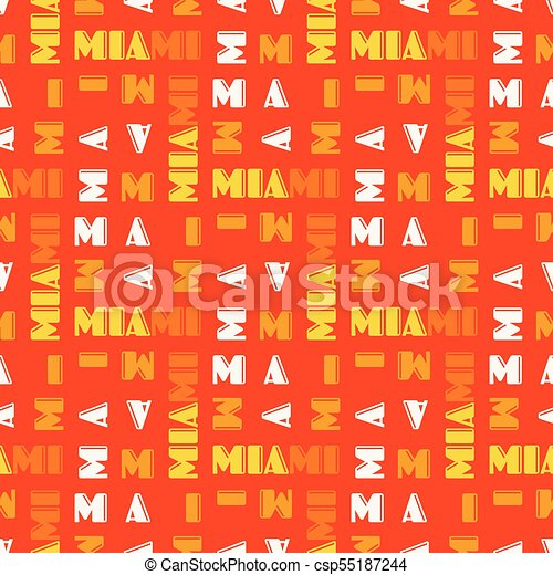Miami pattern seamless design - csp55187244