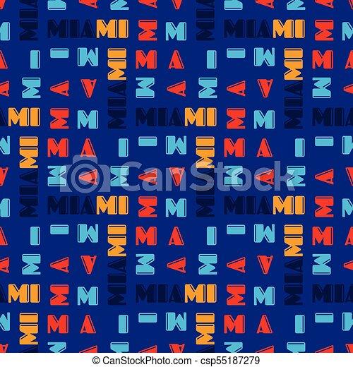 Miami pattern seamless design - csp55187279