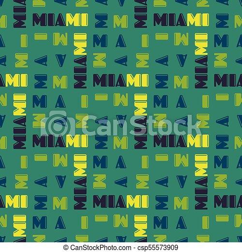 Miami pattern seamless design - csp55573909