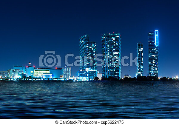 Miami Skyline at night - csp5622475