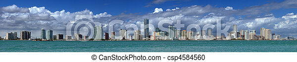 Miami Skyline - csp4584560