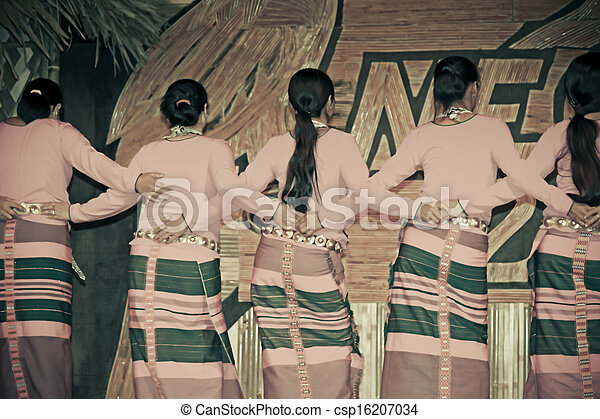 miao, festival, danse, inde, traditionnel, eco, culturel, pradesh, tribus, pendant, namdapha, arunachal, adi - csp16207034