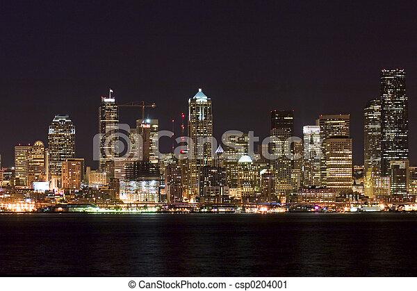 miasto, życie nocne - csp0204001
