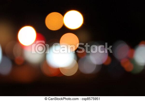 miasto, życie nocne, tło - csp8575951