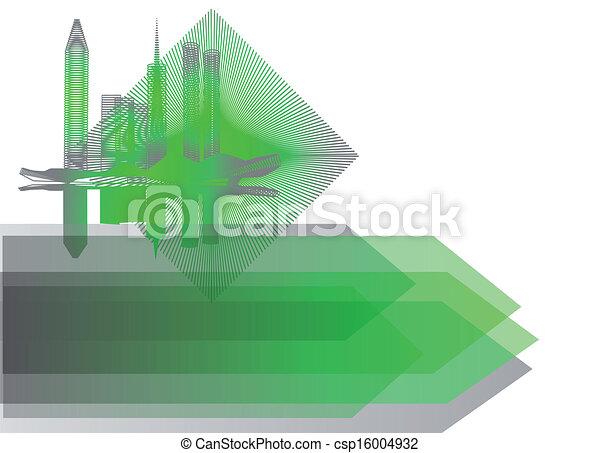 miasto, abstrakcyjny, tło - csp16004932