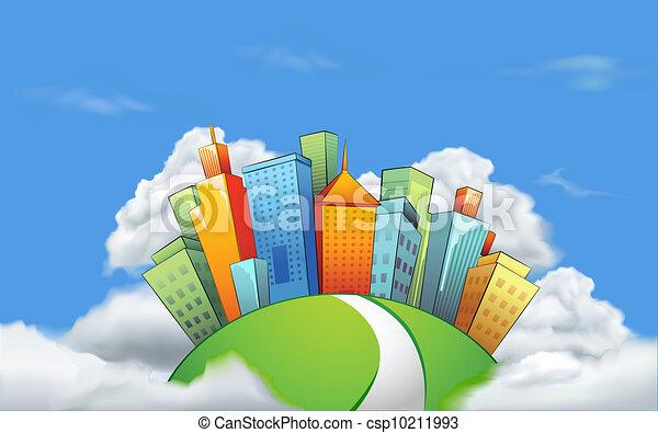 miasto, chmura - csp10211993