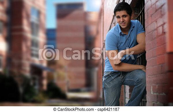 miasto, człowiek - csp6421187