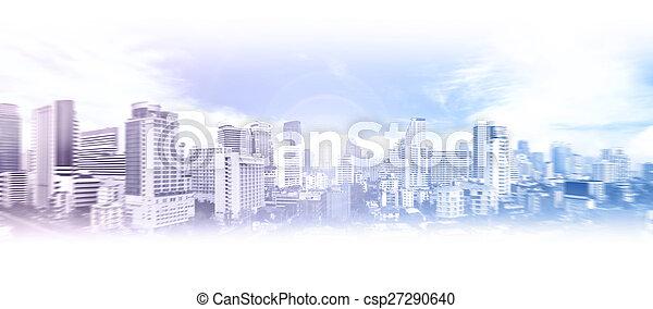 miasto handlowe, tło - csp27290640