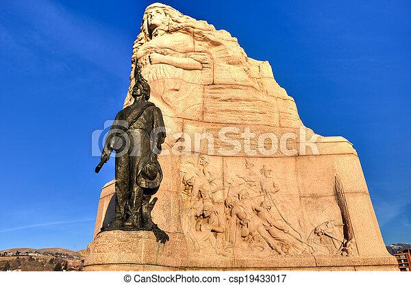 miasto, mormon, utah, jezioro, pomnik, batalion, sól - csp19433017