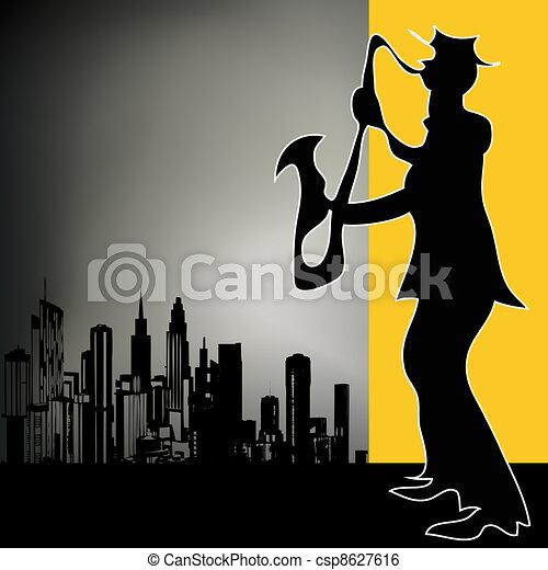 miasto, narzędzie pracy łupkarza, retro - csp8627616