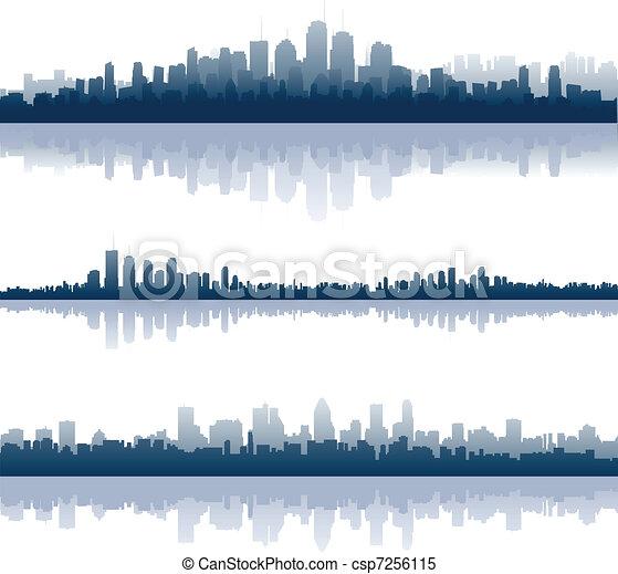 miasto, odbicia - csp7256115