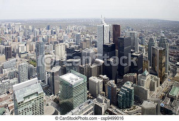 miasto skyline, cn wieża - csp9499016