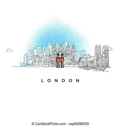 miasto skyline, londyn, uk - csp62698320
