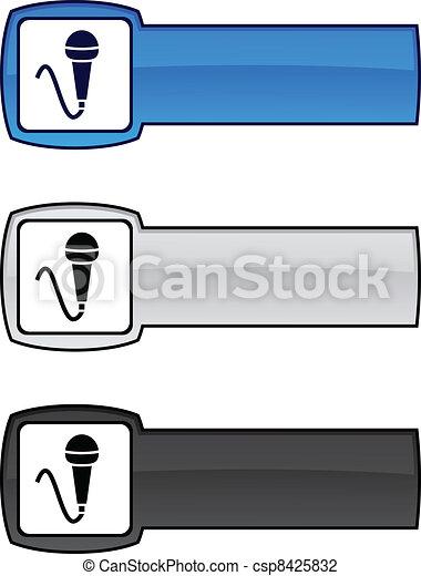 Mic button. - csp8425832