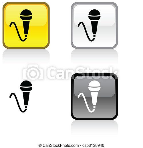 Mic button. - csp8138940