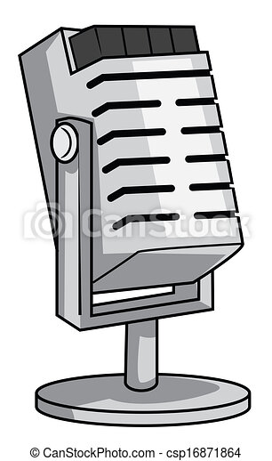 mic cartoon vector illustration rh canstockphoto com cartoon microbes cartoon microwave
