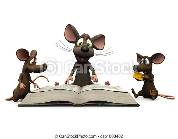 Mice storytime - csp1803482