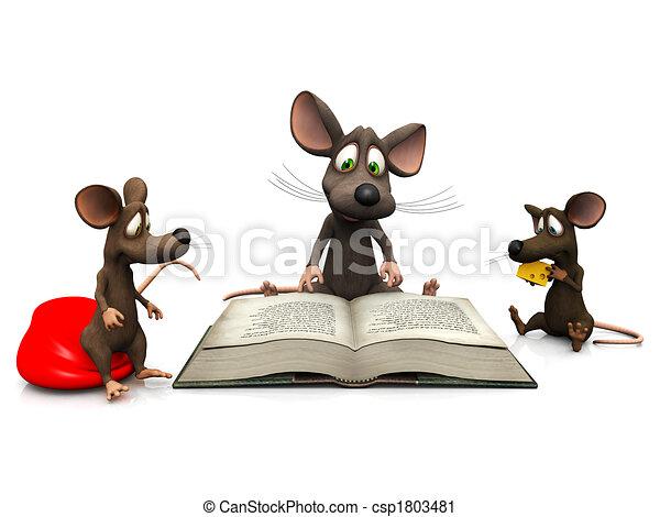 Mice storytime - csp1803481