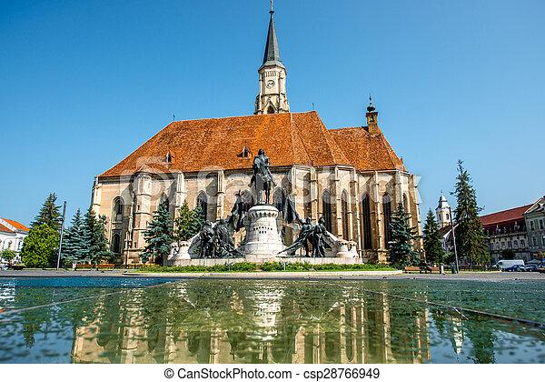 Michael's church in Cluj Napoca - csp28766949