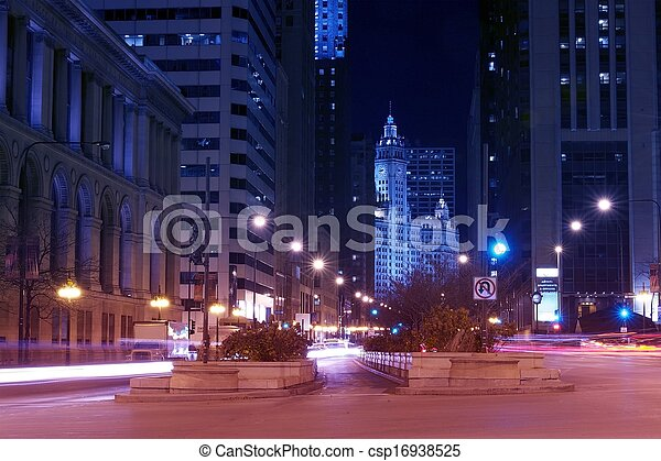 Michigan Ave Chicago - csp16938525