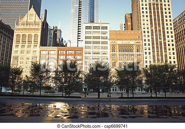 Michigan Avenue in Chicago - csp6699741