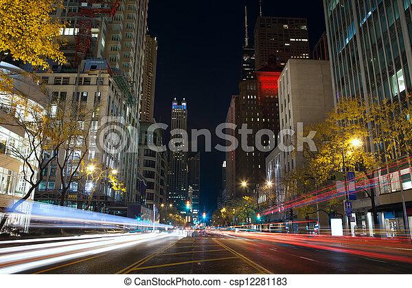 Michigan Avenue in Chicago. - csp12281183