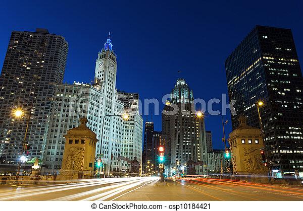 Michigan Avenue in Chicago. - csp10184421
