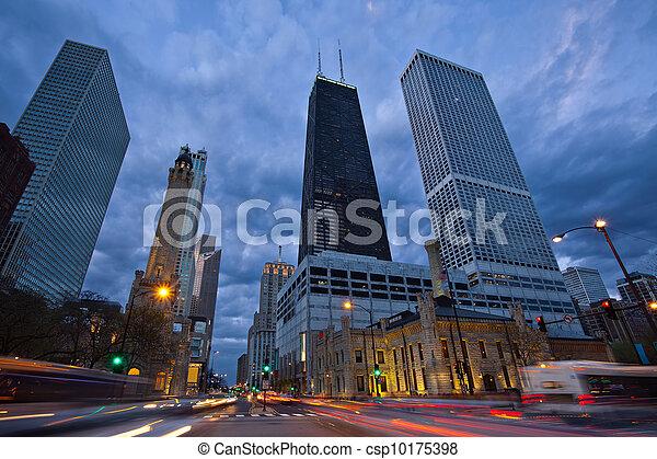 Michigan Avenue in Chicago. - csp10175398