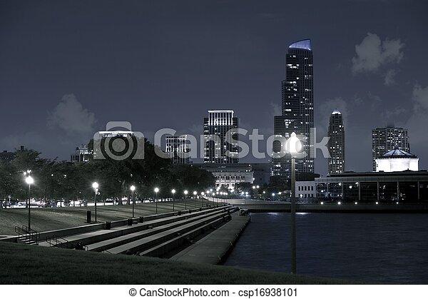 michigan, lac, chicago - csp16938101