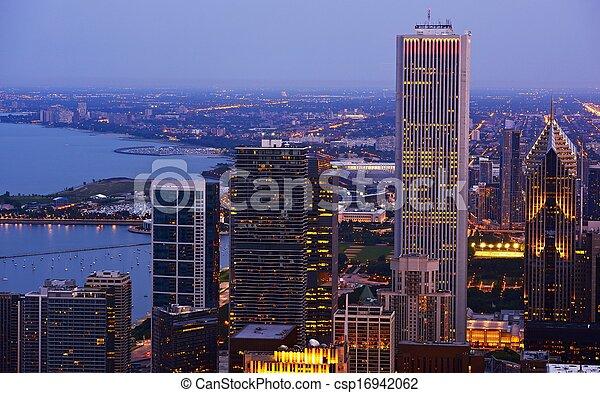 michigan, lac, chicago - csp16942062