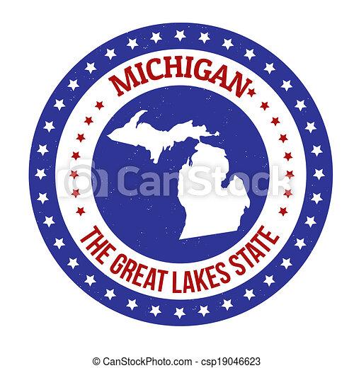 Michigan stamp - csp19046623