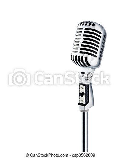 micrófono, retro - csp0562009