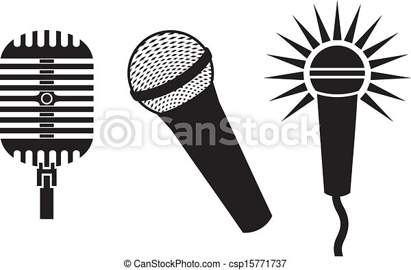 Micrófonos Símbolos Clásico Micrófonos Clásico Set