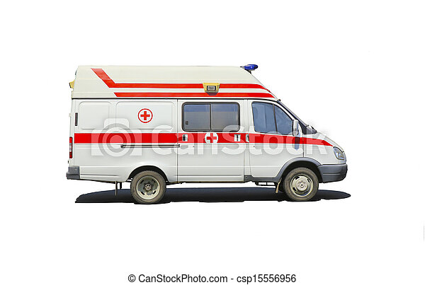 microbús, aislado, ambulancia - csp15556956