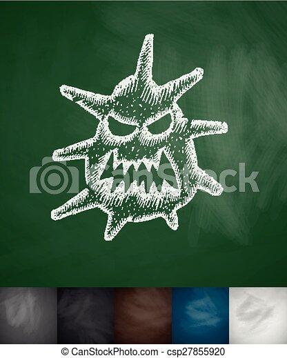 microbe, pictogram - csp27855920