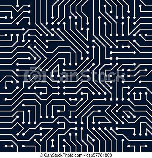 microchip board seamless pattern vector background circuit board
