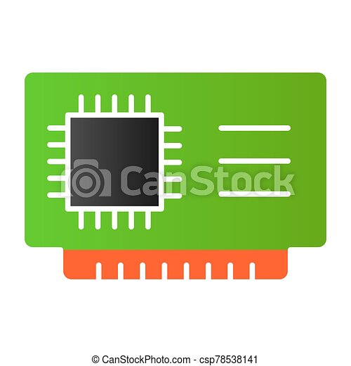 microchip flat icon cpu vector illustration isolated on white chip gradient style design designed for web and app eps 10 microchip flat icon cpu vector illustration isolated on white chip can stock photo