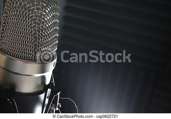 microfone, estúdio - csp0622721