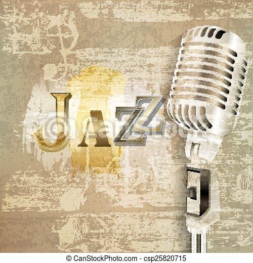 microfone, grunge, abstratos, fundo, retro - csp25820715