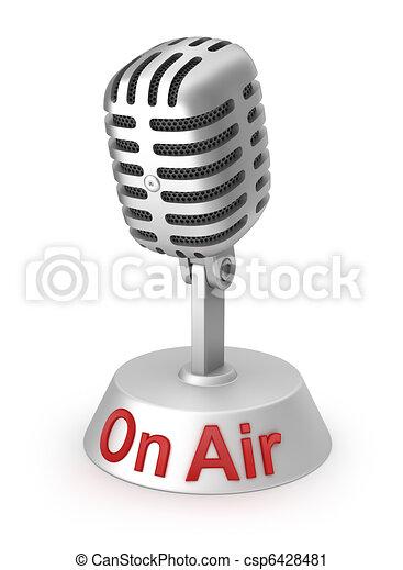 microfone, prata, ar - csp6428481
