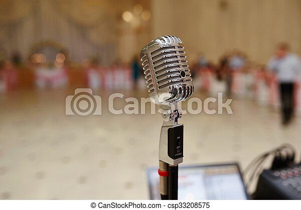 microfone, vocal - csp33208575
