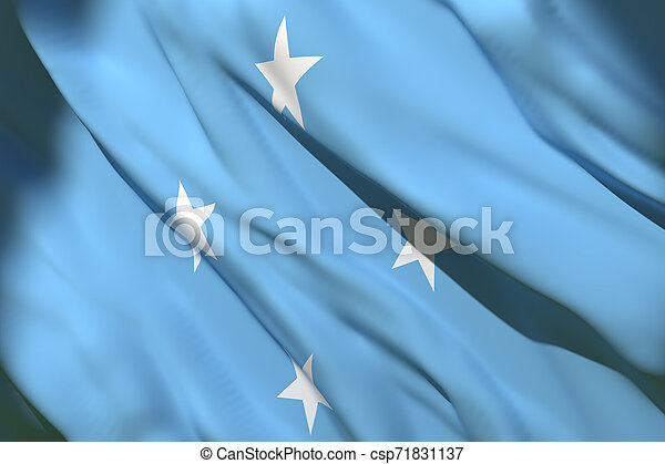 Micronesia flag waving - csp71831137