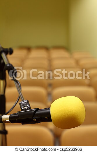 Microphone at conference - csp5263966