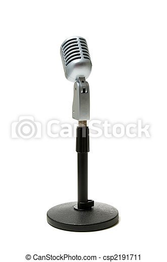 microphone, blanc - csp2191711