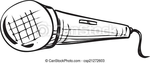Microphone Doodle - csp21272603