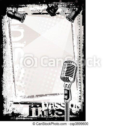 microphone, fond - csp3899600