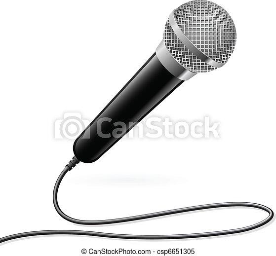 Microphone for Karaoke - csp6651305