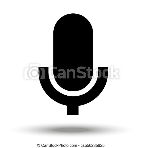 Microphone icon isolated on a white background. - csp56235925