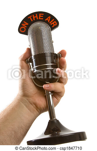Microphone in Hand over white - csp1847710